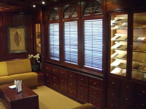 Hotel Le Parc's Obernai (****) Rum and Cigar Lounge, Alsace - photo by Paige Donner c. 2011