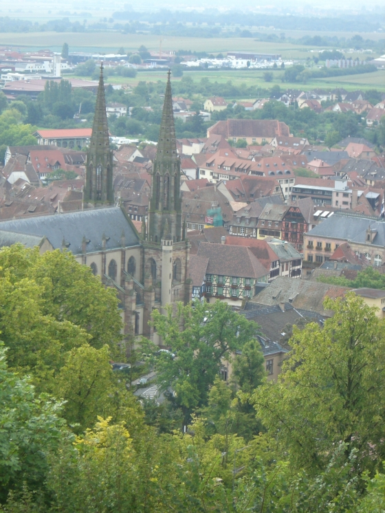 Obernai from Above - Local Food And Wine photo by Paige Donner c. 2011