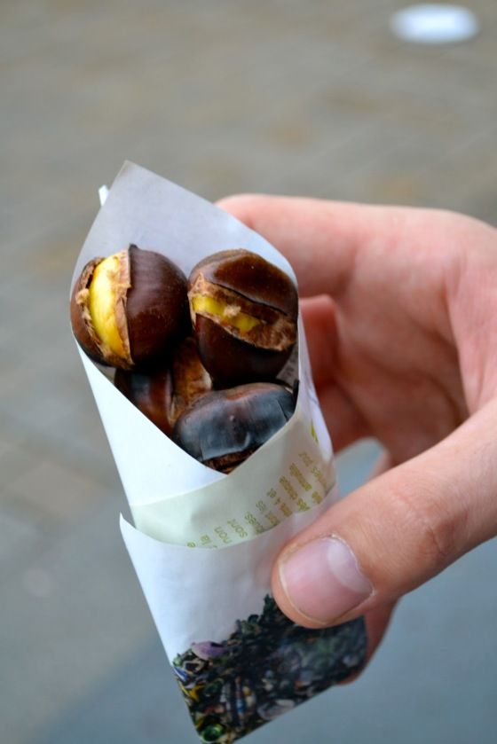Local Food And Wine - cone of chestnuts
