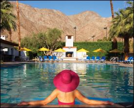 local food and wine - la quinta pool