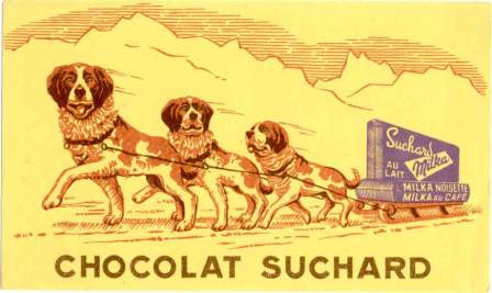 Local Food And Wine chocolat suchard dogsled