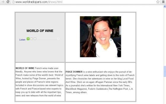 Paige Donner - World Radio Paris - Program Host