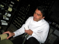 Yannick Alleno in Terroir Parisien wine cellar photo by Paige Donner copyright 2014 IMG_1175