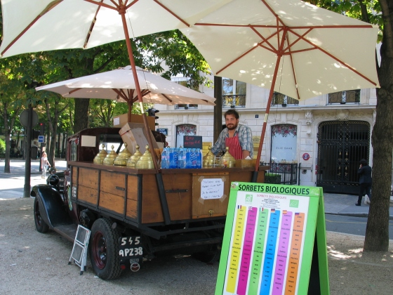 ice cream truck ave montaigne Paris photo by Paige Donner copyright 2014 IMG_1723