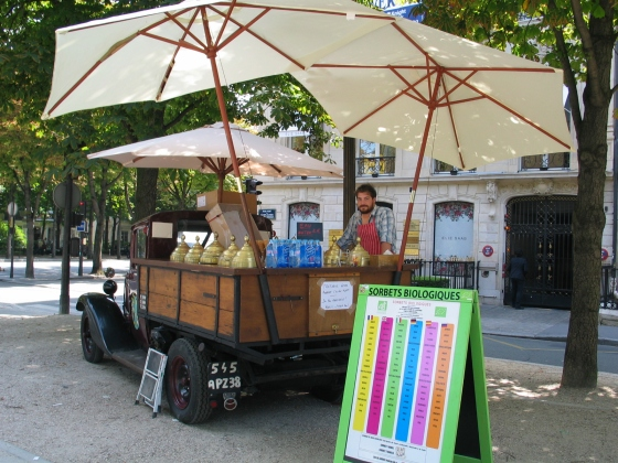 ice cream truck ave Montaigne Paris photo by Paige Donner copyright 2014 IMG_1724