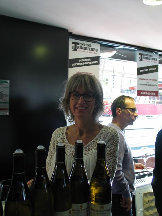 Burgundy Wine Tasting at Les TonTons Trinqueurs Paris 2015. Laura Coffinet of Domaine Coffinet-Duvernay.  Photo by Paige Donner copyright 2015.