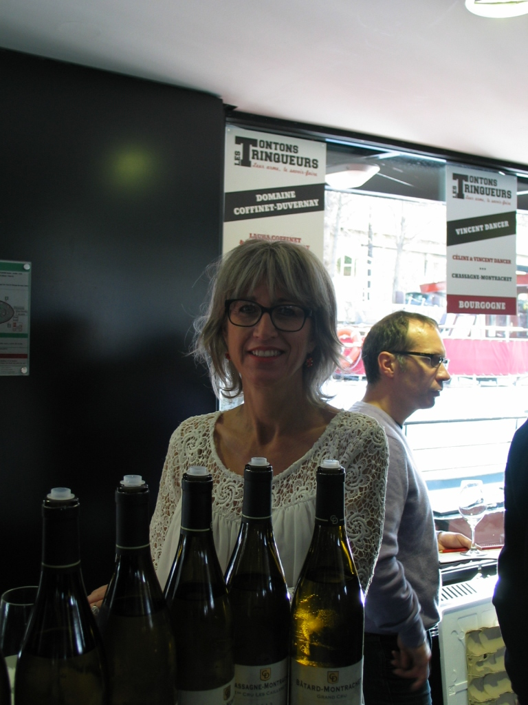 Burgundy Wine Tasting at Les TonTons Trinqueurs Paris 2015. Laura Coffinet of Domaine Coffinet-Duvernay.  Photo by Paige Donner copyright 2015.