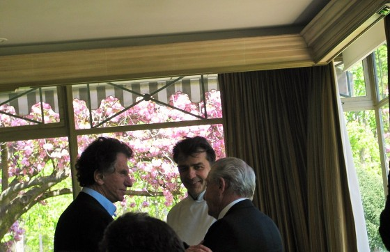 Jack Lang, Yannick Alléno, Gérard Pélisson L-R, Le Pavillon Ledoyen celebrates Institut Paul Bocuse 25 years photo by Paige Donner copyright 2015  IMG_1002 (2)