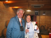 Paige and Dad wine tasting at Chateau Lafleur Pomerol May 2015 photo copyright Paige Donner IMG_2052