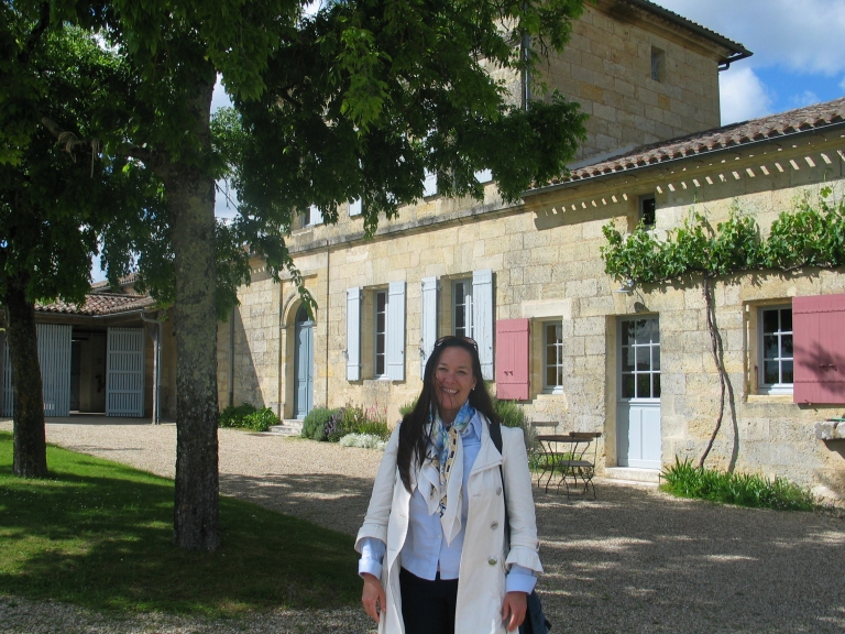 Paige at Chateau Lafleur Pomerol Bordeaux May 2015 photo copyright Paige Donner IMG_2005