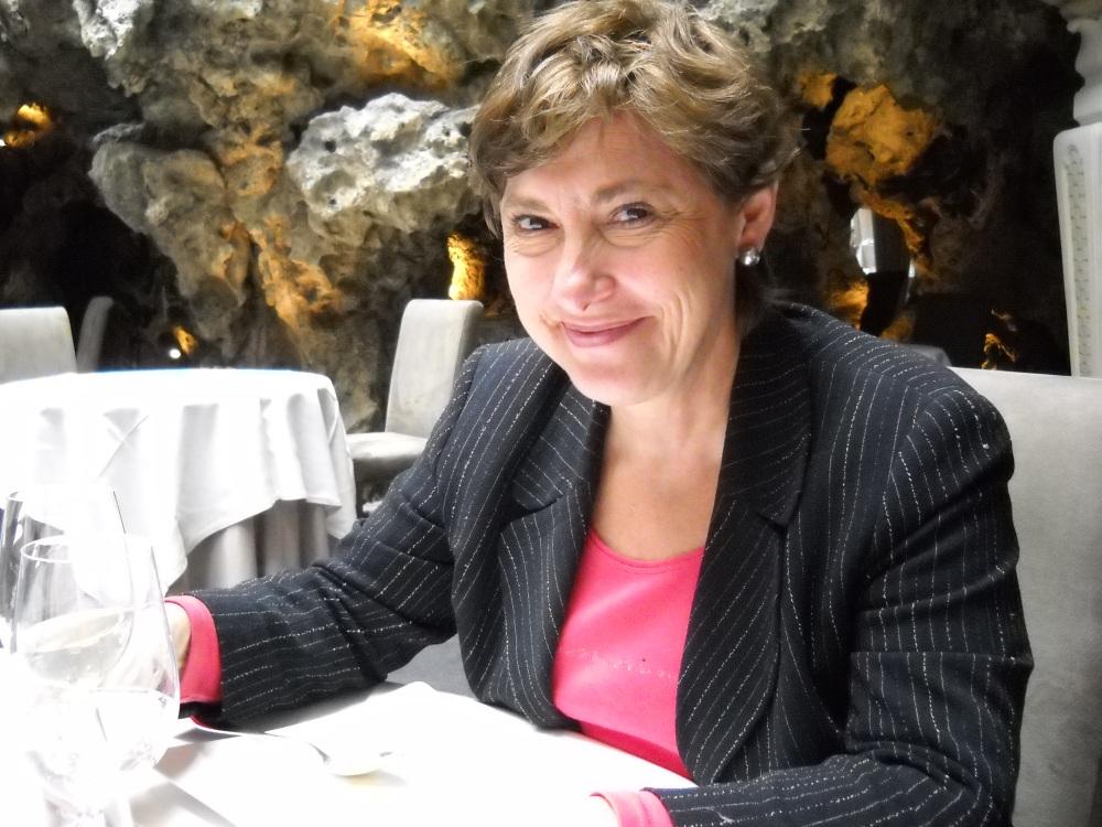 Sylvie Cazes, of St. Emilion Wine Estate, Chateau Chauvin, photo by Paige Donner copyright 2015