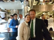 Arnold Schwarzenegger's impromptu stop into the kitchens of Le Cinq.