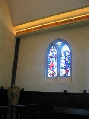 La Mission Haut Brion Chapel with Millesimes engravings photo by Paige Donner copyright 2017 IMG_2520