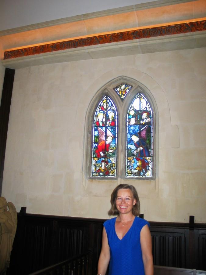Turid at chapel La Mission Haut Brion photo by Paige Donner copyright 2017 IMG_2517
