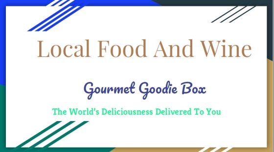 Local Food And Wine Gourmet goodie box title slide 1
