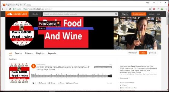 Screenshot soundcloud title page paige donner
