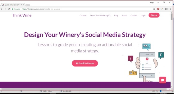 wine marketing online course social media local food and wine
