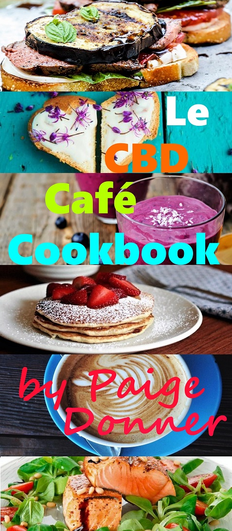 Le CBD Café Cookbook Cover websize by Paige Donner on Amazon