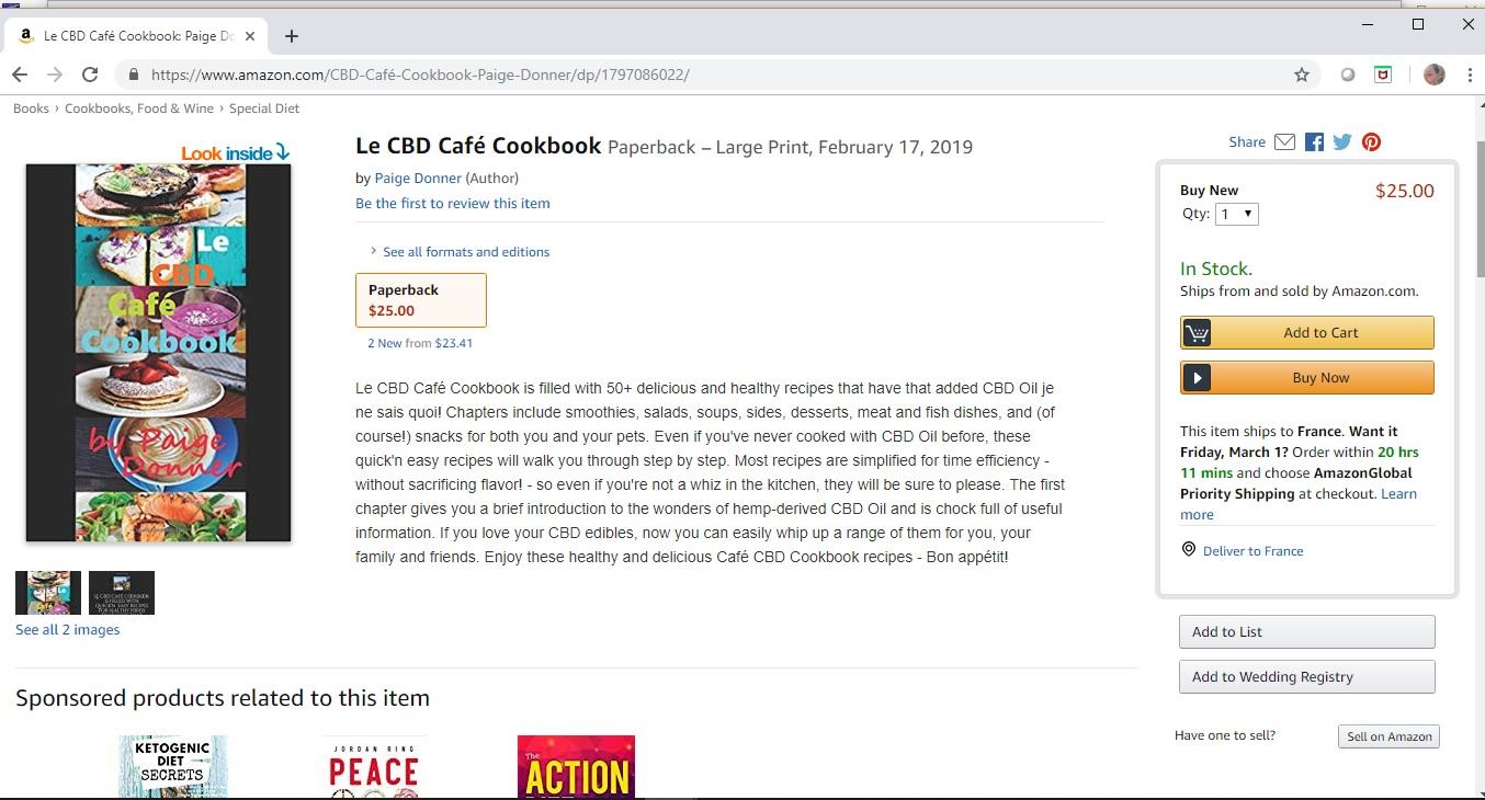 Le CBD Café Cookbook screenshot Amazon